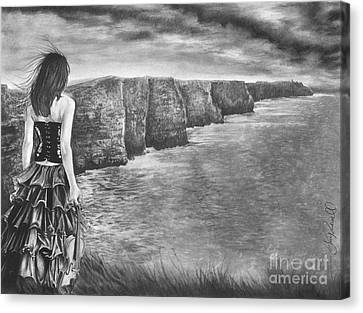 Whisper - The Cliffs Of Moher Canvas Print by Gary Rudisill