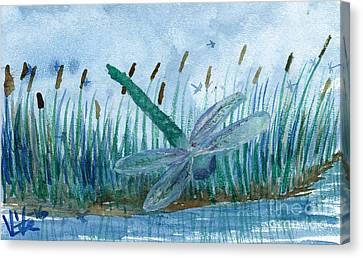 Whispering Cattails Canvas Print