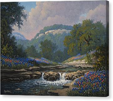 Whispering Creek Canvas Print by Kyle Wood