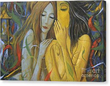 Whispering Mermaids Canvas Print by Glenn Quist