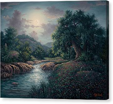 Whispering Night Canvas Print
