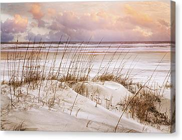 Canvas Print featuring the photograph Whispers In The Dunes by Debra and Dave Vanderlaan