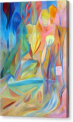 Canvas Print featuring the painting Whispers Of Immortality 3 by Linda Cull