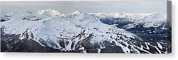Whistler Mountain Panorama Canvas Print by Pierre Leclerc Photography