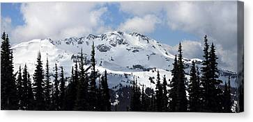Whistler Mountain Peak View From Blackcomb Canvas Print by Pierre Leclerc Photography