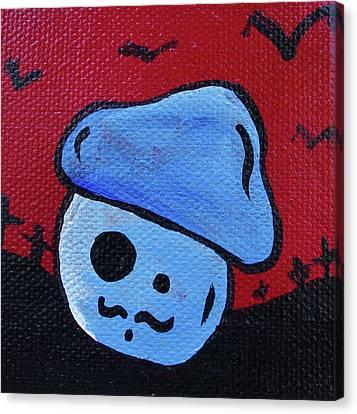 Whistlin Zombie Mushroom Canvas Print