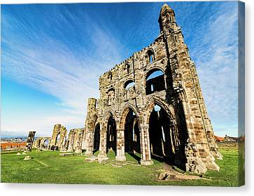 Canvas Print featuring the photograph Whitby Abbey by Anthony Baatz