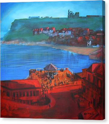 Whitby Bandstand And Smokehouses Canvas Print by Neil McBride