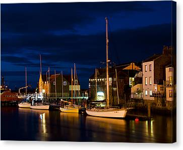 Whitby Harbour Canvas Print by Svetlana Sewell