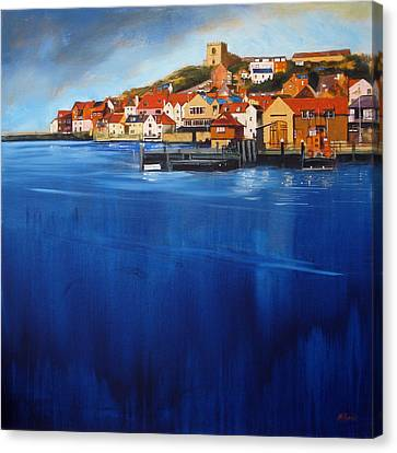 Whitby High Tide Canvas Print by Neil McBride