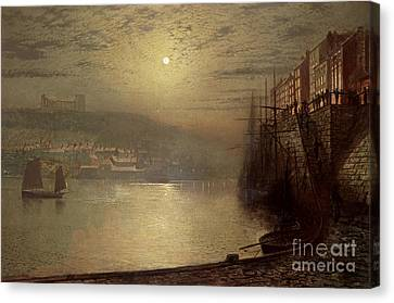 Port Town Canvas Print - Whitby by John Atkinson Grimshaw