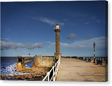 Whitby Lighthouse Canvas Print