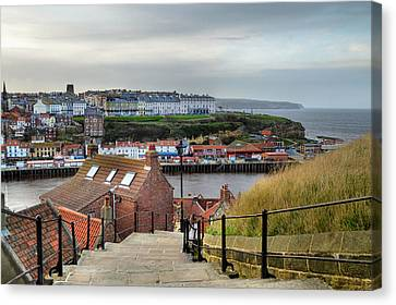 Whitby Canvas Print by Sarah Couzens