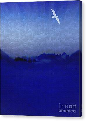 Out Of The Blue Canvas Print by Edmund Nagele