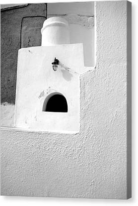 White Abstract Canvas Print by Ana Maria Edulescu