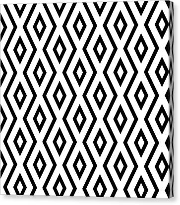 White And Black Pattern Canvas Print by Christina Rollo