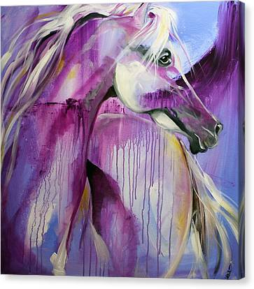 White Arabian Nights Canvas Print by Laurie Pace