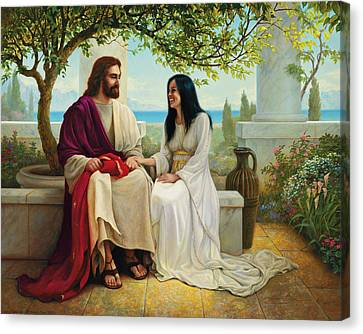 Robes Canvas Print - White As Snow by Greg Olsen