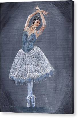 Canvas Print featuring the painting White Ballerina by Jamie Frier