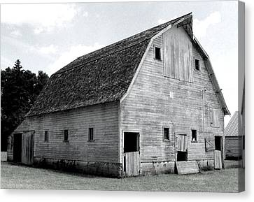 White Barn Canvas Print by Julie Hamilton