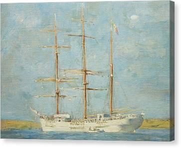 Tuke Canvas Print - White Barque by Henry Scott Tuke