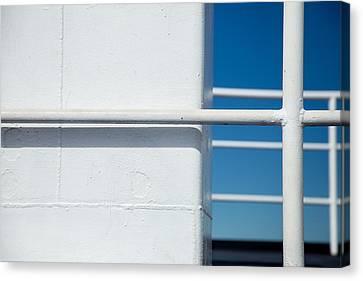 White Bars Canvas Print by Karol Livote