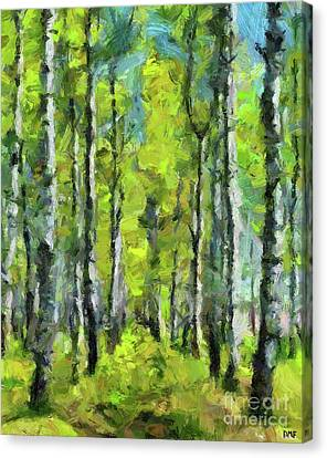 White Birches Canvas Print by Dragica Micki Fortuna