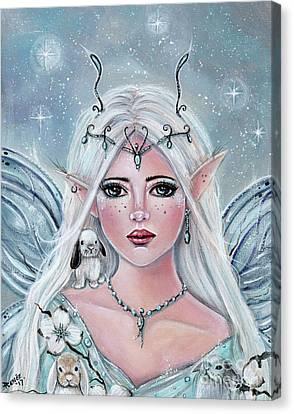 White Blossom Elf Canvas Print