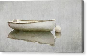 White Boat Canvas Print