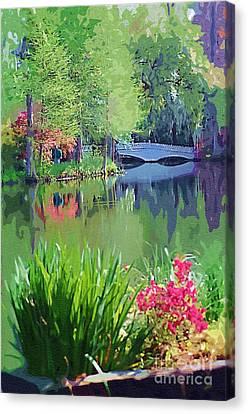 White Bridge Canvas Print by Donna Bentley