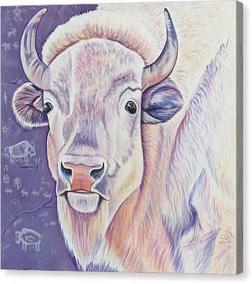 White Buffalo Canvas Print by Lucy Deane
