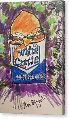 White Castle Canvas Print by Geraldine Myszenski