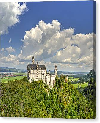 White Castle On A Hill Canvas Print