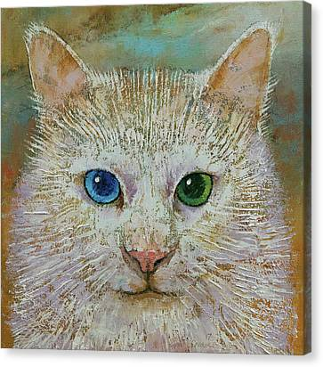 White Cat Canvas Print by Michael Creese