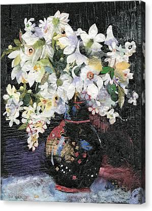 White Celebration Canvas Print by Nira Schwartz