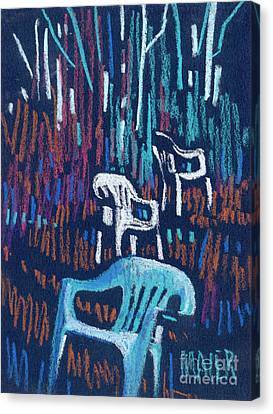 White Chairs Canvas Print by Donald Maier