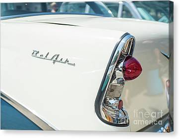 White Chevy Belair Classic Canvas Print