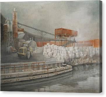 White Cinder Blocks Canvas Print by Stefan Beltzig