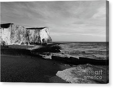 White Cliffs Of England At Seaford Head Canvas Print by James Brunker