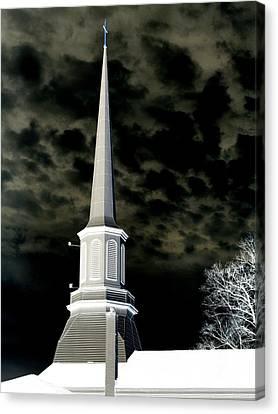 White Cross Dark Skies Canvas Print by Joshua House