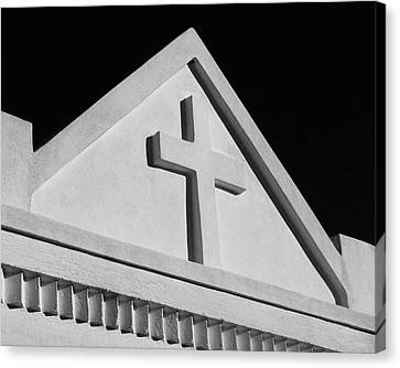 White Cross On Vault Canvas Print by Tony Grider