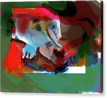 White Dog Canvas Print by James Thomas