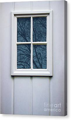 White Door Detail Canvas Print