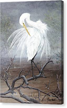 White Egret Canvas Print by Kevin Brant