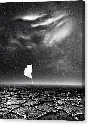 White Flag Canvas Print by Jacky Gerritsen