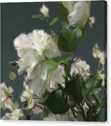 White Flowers 103 Canvas Print