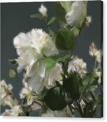 White Flowers 103 Canvas Print