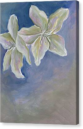Canvas Print - White Flowers by Cherie Sexsmith
