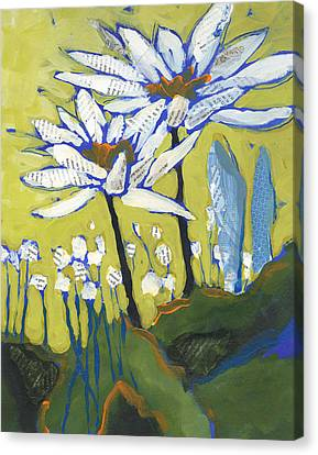 White Flowers Canvas Print by Shelli Walters