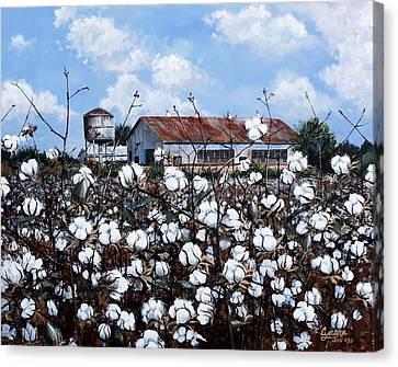 Mills Canvas Print - White Harvest by Cynara Shelton